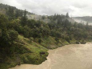 Eel River, high turbidity