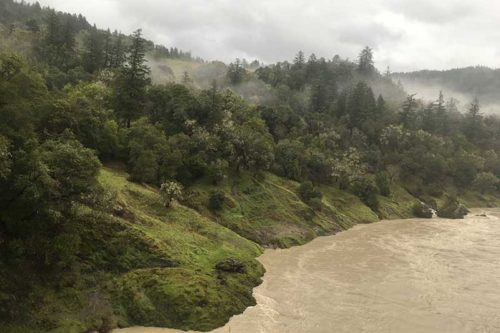 Eel River, high turbidity