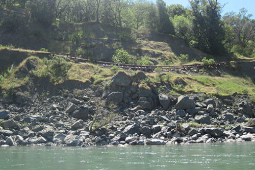 Railroad falling into the Eel River