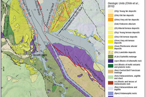 Geologic Map Gravelly Valley