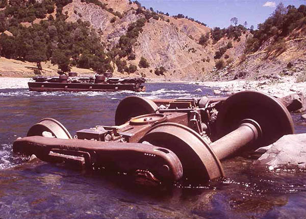 Abandoned machinery in Eel River