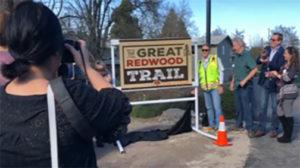 Great Redwood Trail Ribbon Cutting Ukiah